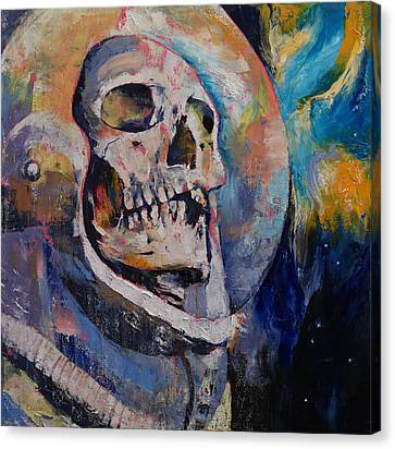 Stardust Astronaut Canvas Print by Michael Creese