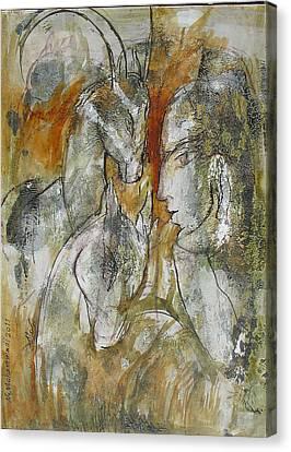 Stare Canvas Print by Floria Varnoos