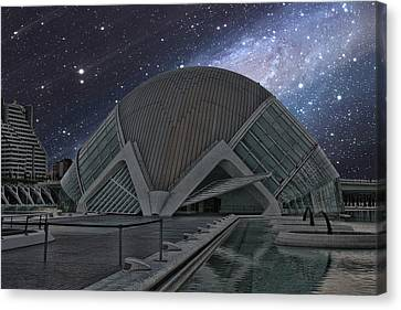 Canvas Print featuring the photograph Starfall On Planetary by Angel Jesus De la Fuente