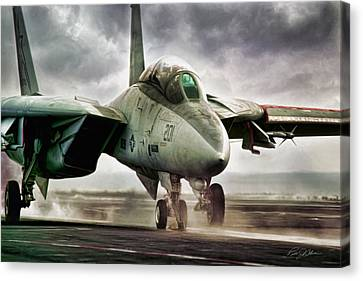 Starfighter Launch Canvas Print by Peter Chilelli