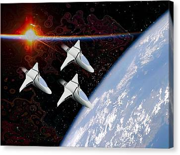 Starfighters Canvas Print by Piero Lucia