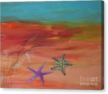 Starfish Canvas Print by PainterArtist FIN