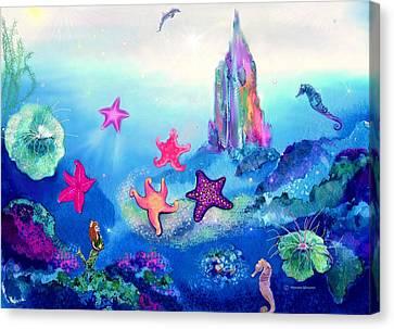 Starfish Play Canvas Print