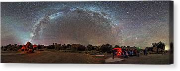 Stargazing At City Of Rocks State Park Canvas Print by Alan Dyer