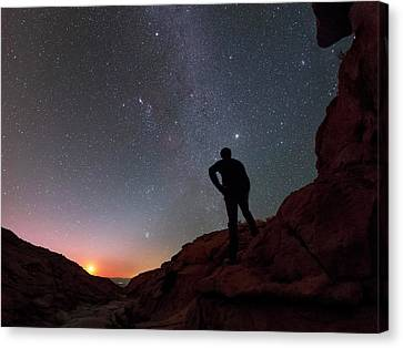 Stargazing In The Atacama Desert Canvas Print by Babak Tafreshi