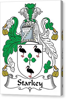Starkey Coat Of Arms Irish Canvas Print by Heraldry