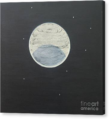 Canvas Print featuring the painting Starlight by Mini Arora