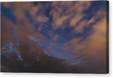 Canvas Print featuring the photograph Starlight Skyscape by Marty Saccone