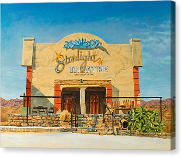 Starlight Canvas Print - Starlight Theatre Terlingua by Karl Melton