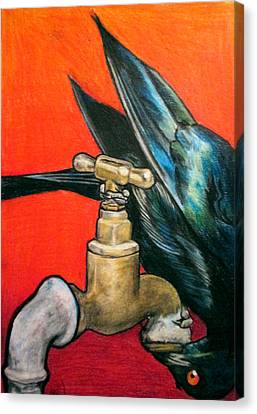 Starling Canvas Print by Andrea Walton