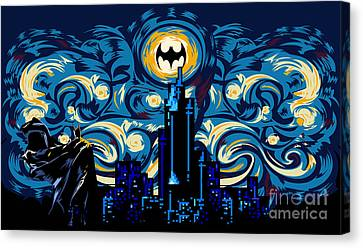 Starry Knight Canvas Print by Three Second