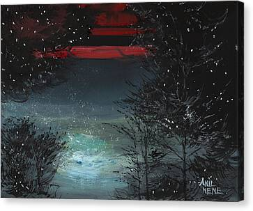 Starry Night Canvas Print by Anil Nene