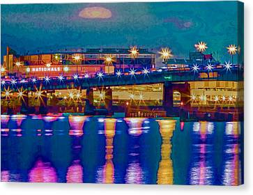 Starry Night At Nationals Park Canvas Print