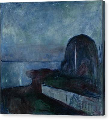 Starry Night Edvard Munch, Norwegian Canvas Print by Litz Collection