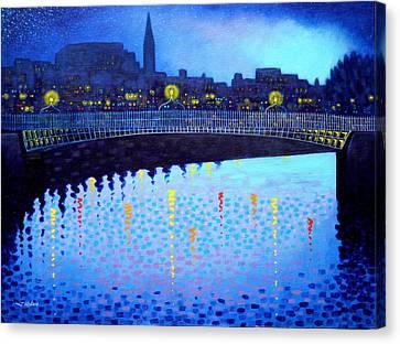Starry Night In Dublin Vi Canvas Print by John  Nolan