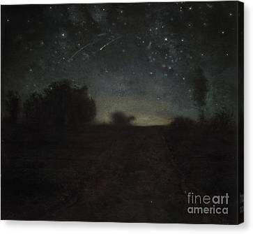 Starry Night Canvas Print by Jean-Francois Millet