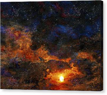 Starry Sunset Canvas Print by Bruce Rolff