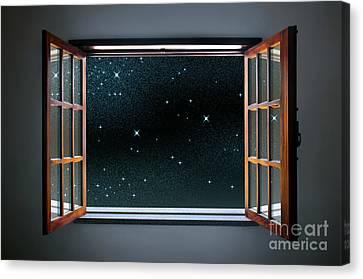 Starry Window Canvas Print by Carlos Caetano