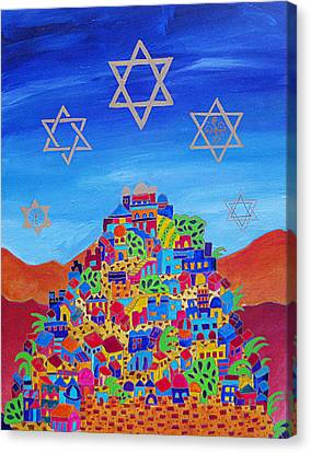 Stars Above Jerusalem Canvas Print by Dawnstarstudios
