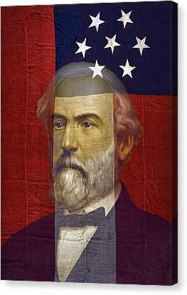 Stars And Bars General Lee Canvas Print by Daniel Hagerman