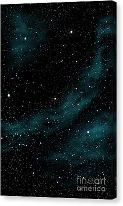 Stars And Cloud Canvas Print by Atiketta Sangasaeng