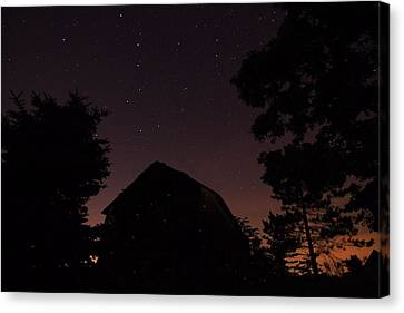 Lightning D Canvas Print - Stars And Lightning Bugs On The Farm by Dan Sproul