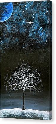 Stars And Snow Canvas Print by Sabrina Zbasnik