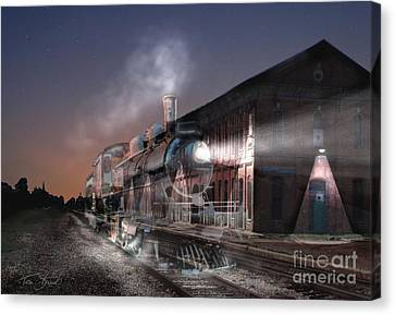 Stars And Station 2010 Canvas Print by Tom Straub