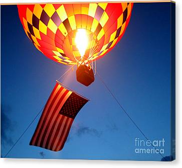 Stars And Stripes Glow Canvas Print
