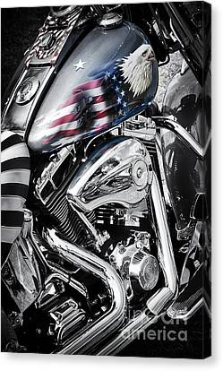 Motors Canvas Print - Stars And Stripes Harley  by Tim Gainey