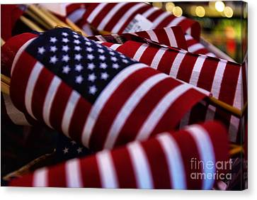 Canvas Print featuring the photograph Stars And Stripes by John S