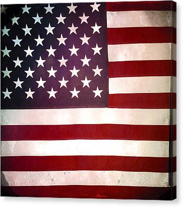 Stars And Stripes Canvas Print by Les Cunliffe