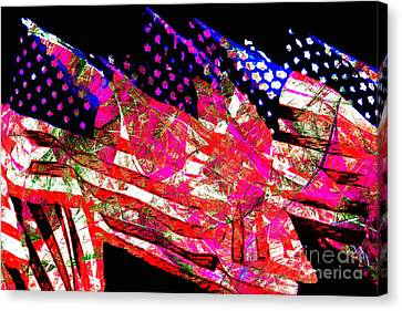 Stars And Stripes Of America Land Of The Free 20150828 Canvas Print by Wingsdomain Art and Photography