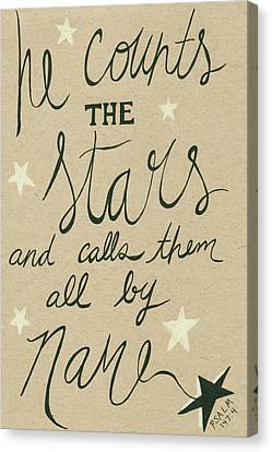 Stars Canvas Print by Anne Seay