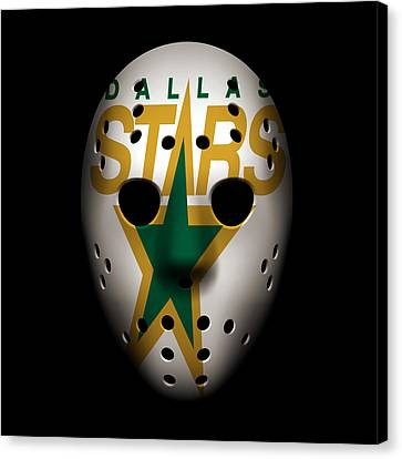 Stars Goalie Mask Canvas Print by Joe Hamilton