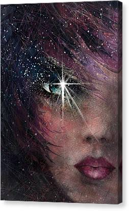 Stars In Her Eyes Canvas Print by Rachel Christine Nowicki