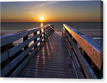 Stars On The Boardwalk Canvas Print by Debra and Dave Vanderlaan