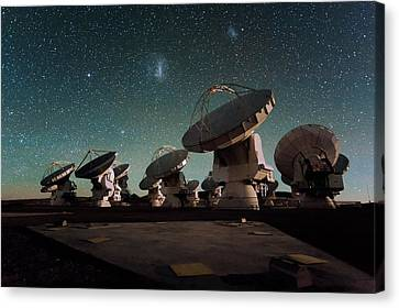 Stars Over Alma Canvas Print by Eso/c. Malin