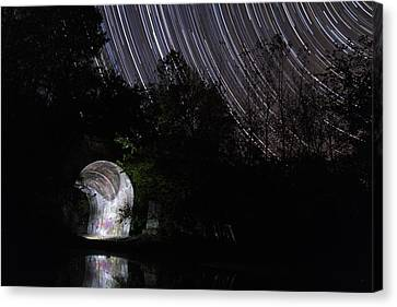 Stars Over The Tunnel Canvas Print by Shae Cohan