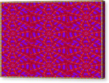 Stars Round Oval Pattern Lines Strokes Graphic Red Purple Blue Rich Texture Art Created By Navinjosh Canvas Print
