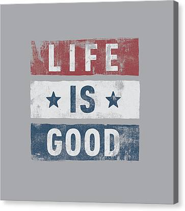 Stars Stripes Life Is Good Canvas Print by Life is Good