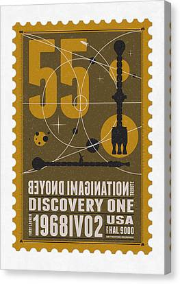 Science Fiction Canvas Print - Starschips 55-poststamp -discovery One by Chungkong Art