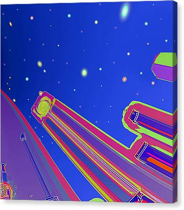 Starscrapers Canvas Print by Wendy J St Christopher