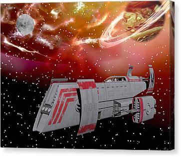 Starship Wonder Canvas Print by Michele Wilson