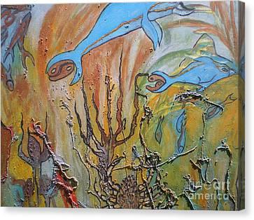 Starsign Cancer Canvas Print by Ann Fellows