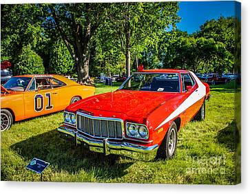 Dukes Of Hazard Show Canvas Print - Starsky And Hutch Ford Gran Torino by Grace Grogan