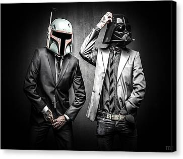Starwars Suitup Canvas Print