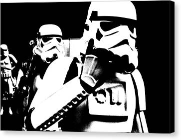Starwars Troopers Canvas Print by Tommytechno Sweden
