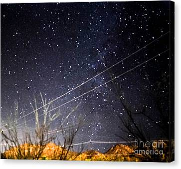 Stars Drunk On Lightpaint Canvas Print