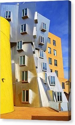 Canvas Print featuring the photograph Stata Building At M I T by Caroline Stella